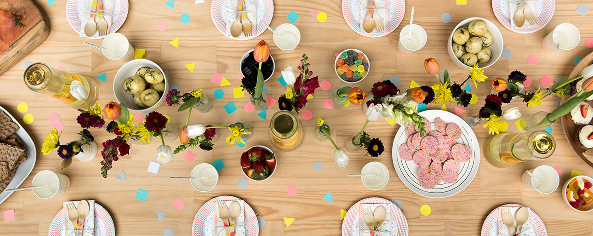 DIY Garden Party Table Setting