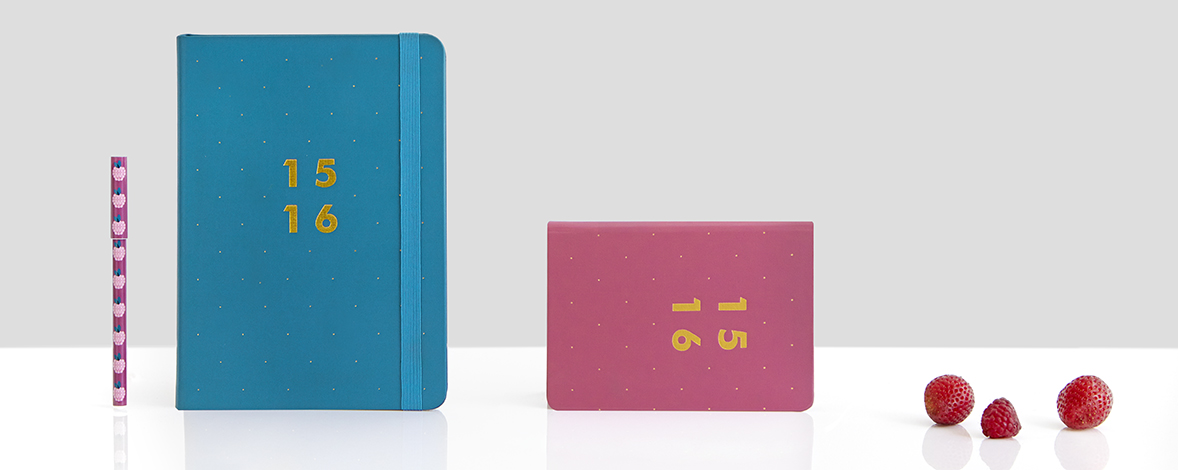 New Financial Year Diaries in ocean and black cherry