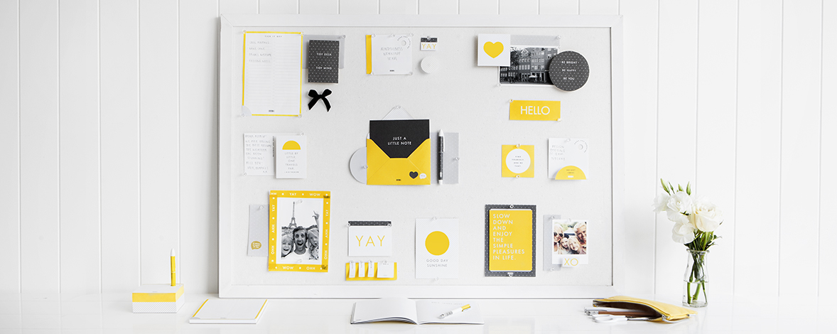Inspire yourself with a bright and cheerful Vision Board