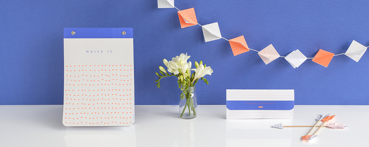 Super cute paper craft ideas using our Printed Notepad