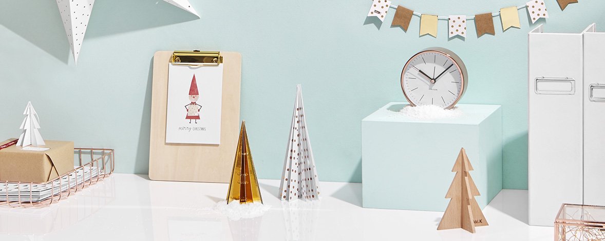 Be inspired to create a mini festive scene on your desk