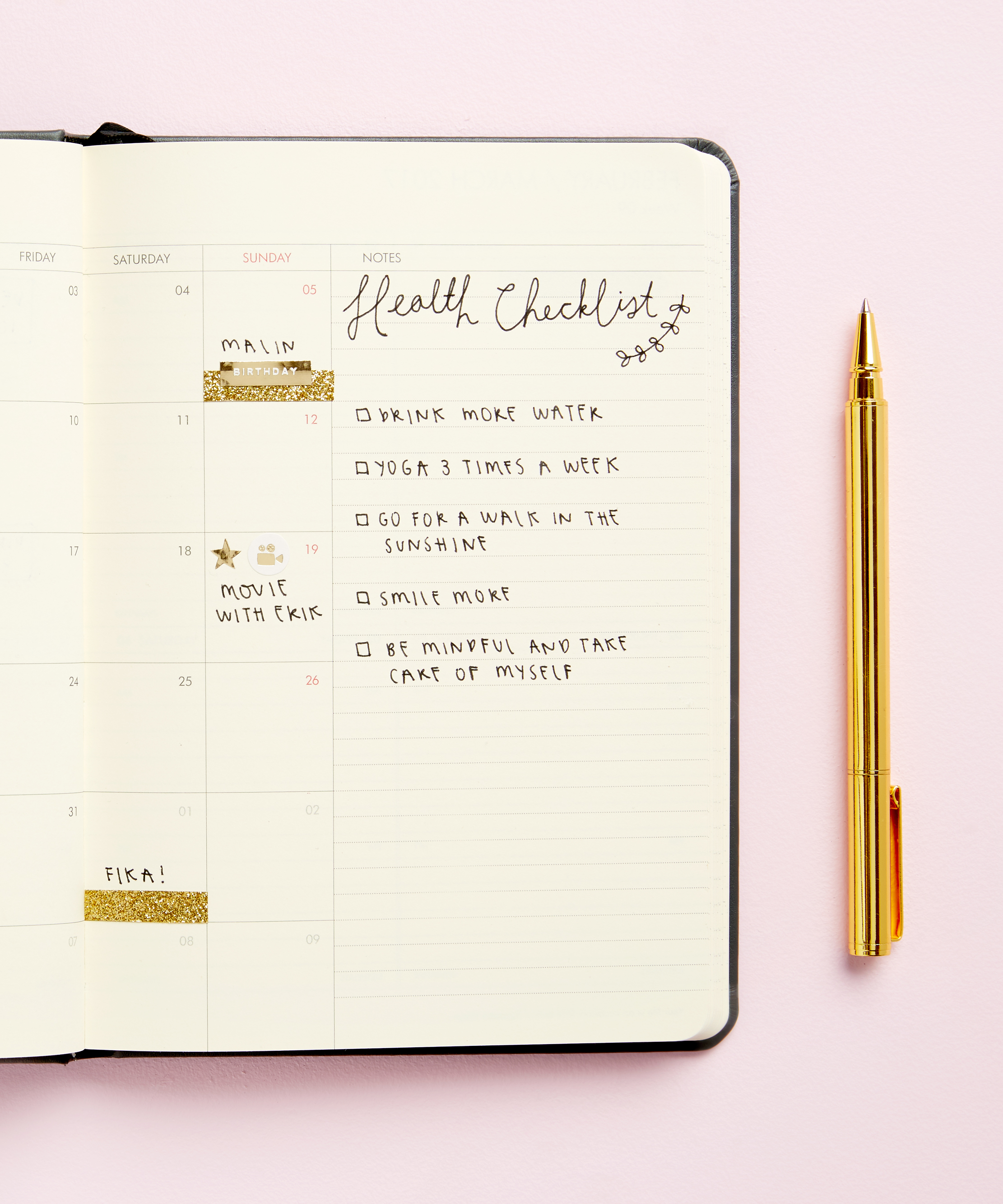 Create your own Diary Layout with these customisation ideas