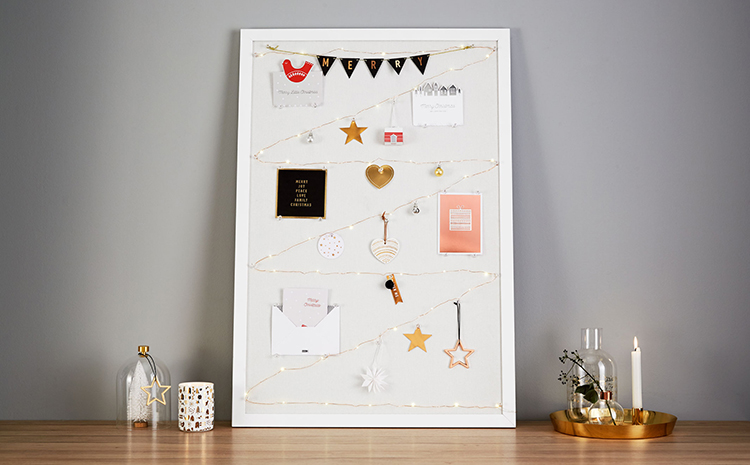 Create a Mini Festive scene with this idea for displaying your Christmas Cards