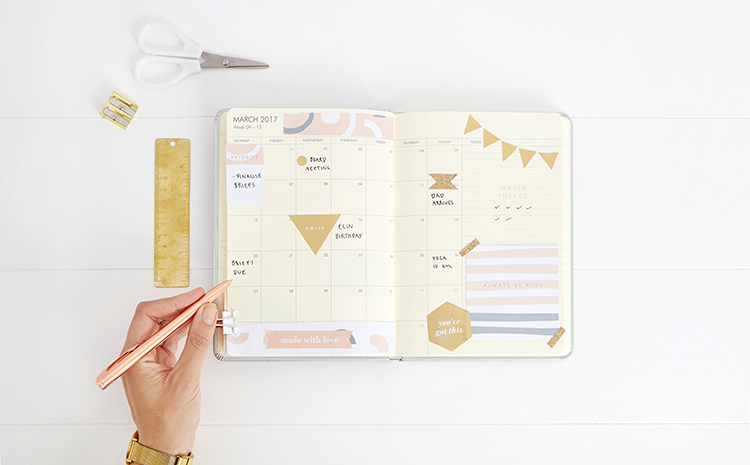 Tips to decorate and organise your diary