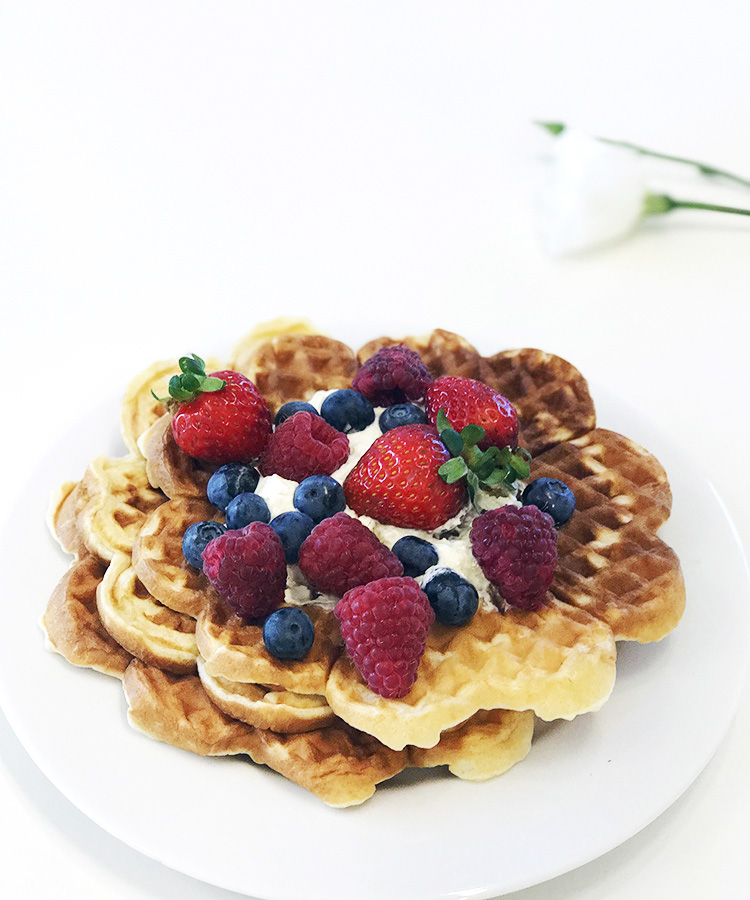 Today is Våffeldagen  and in Sweden we celebrate by making delicious waffles.