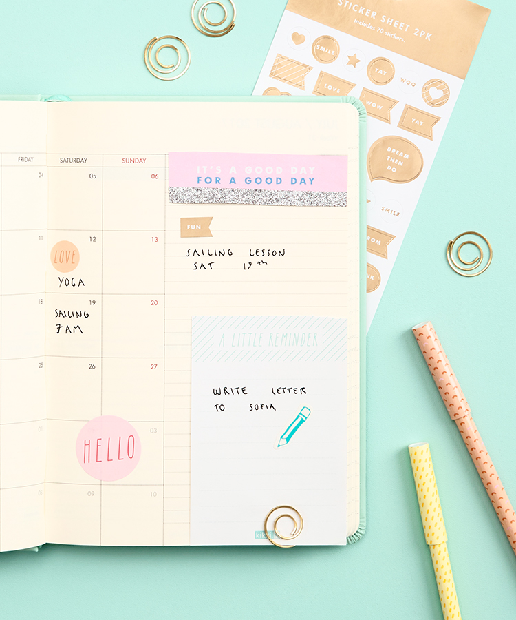 How to decorate your kikki.K Diary
