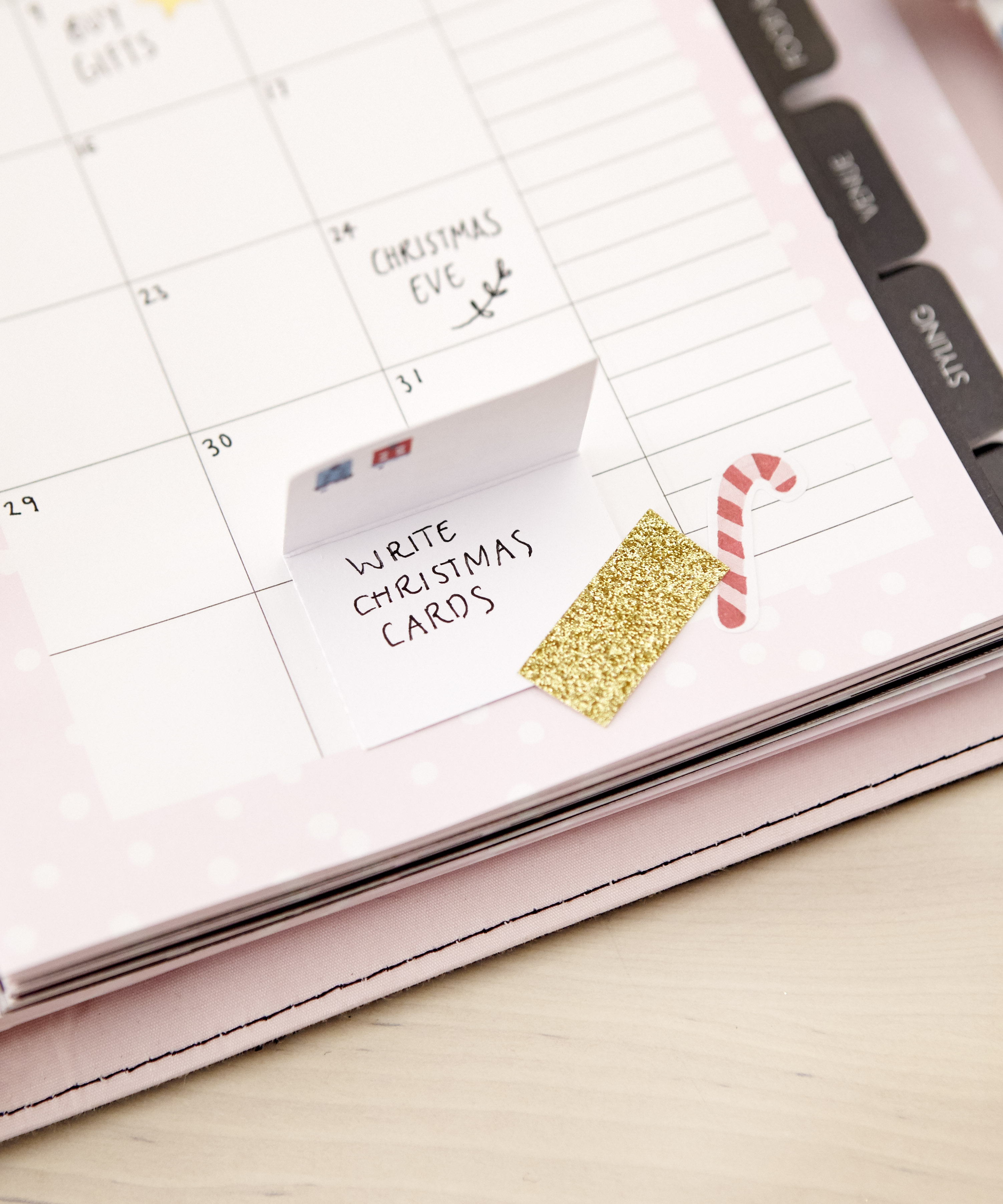 How to decorate your kikki.K Planner for Christmas