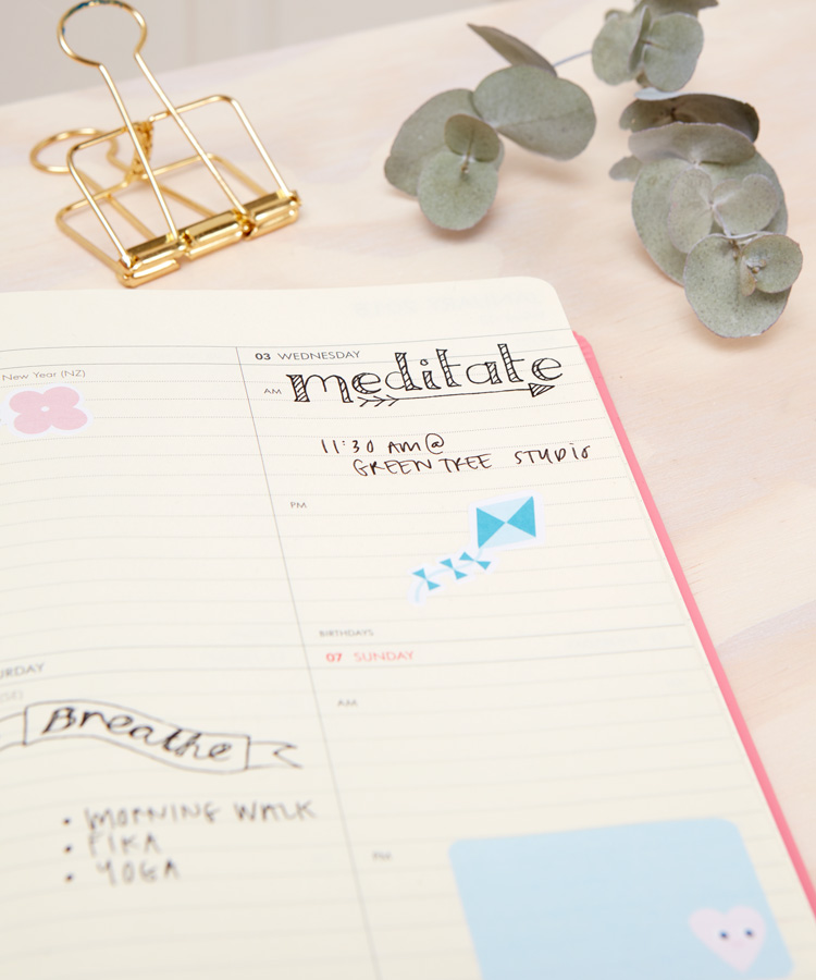 How to organise your diary