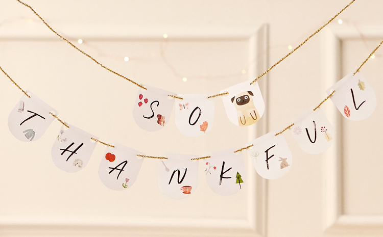 Enjoy this Thanksgiving downloadable bunting