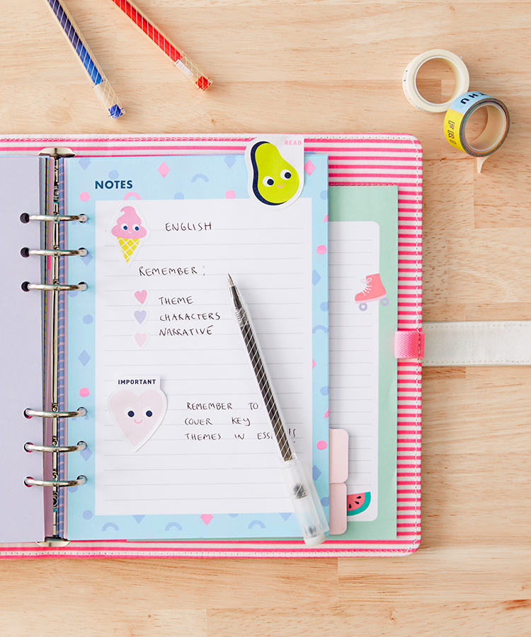 Study tips using your planner