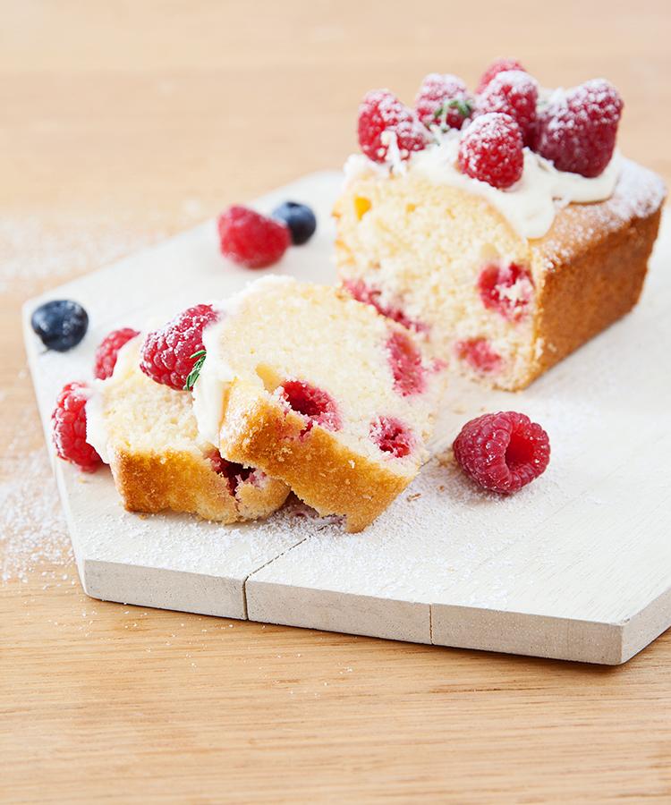 Yogurt and berry loaf recipe