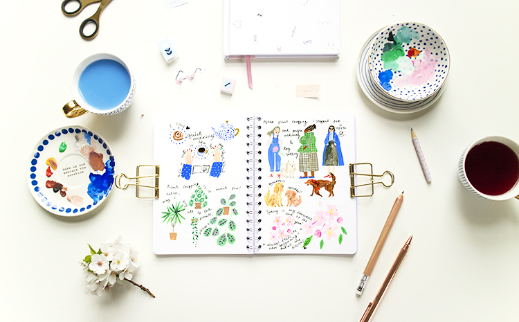 How to paint your day in a journal