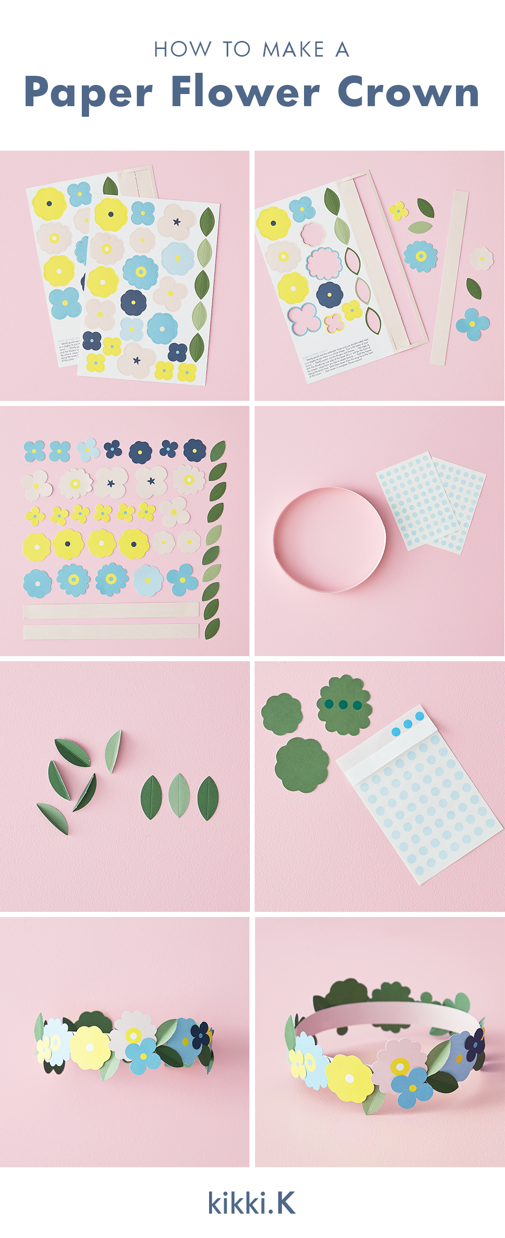 How to make a paper flower crown kikkik blog paper flower crown downloadable izmirmasajfo