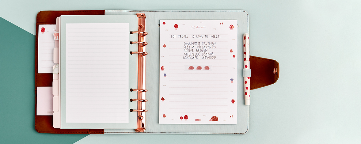 Woodland Wanders Leather-Look Planner