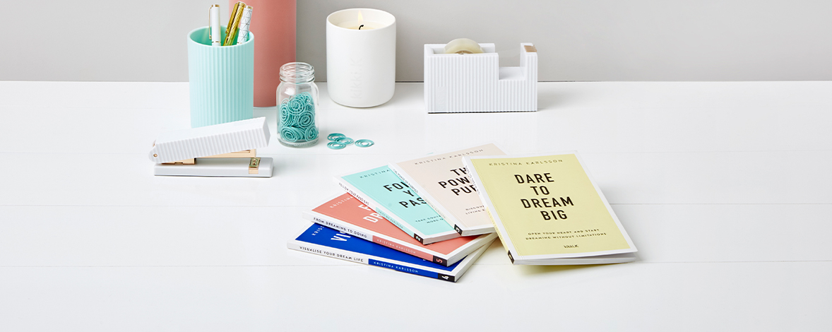 Mini Books, Maximum Inspiration. Kristina's Bite-Sized 'Your Dream Life Starts Here' Series – Collect All Five and Make this Your Dream Decade!