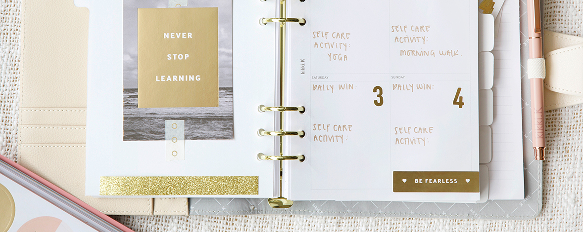 How to Plan for Positivity Using Your kikki.K Planner