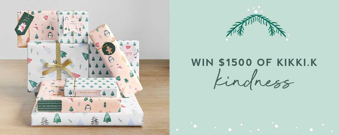 Christmas Giveaway: Give Kindness, Give kikki.K and WIN $1500 Worth of kikki.K Goodies*!
