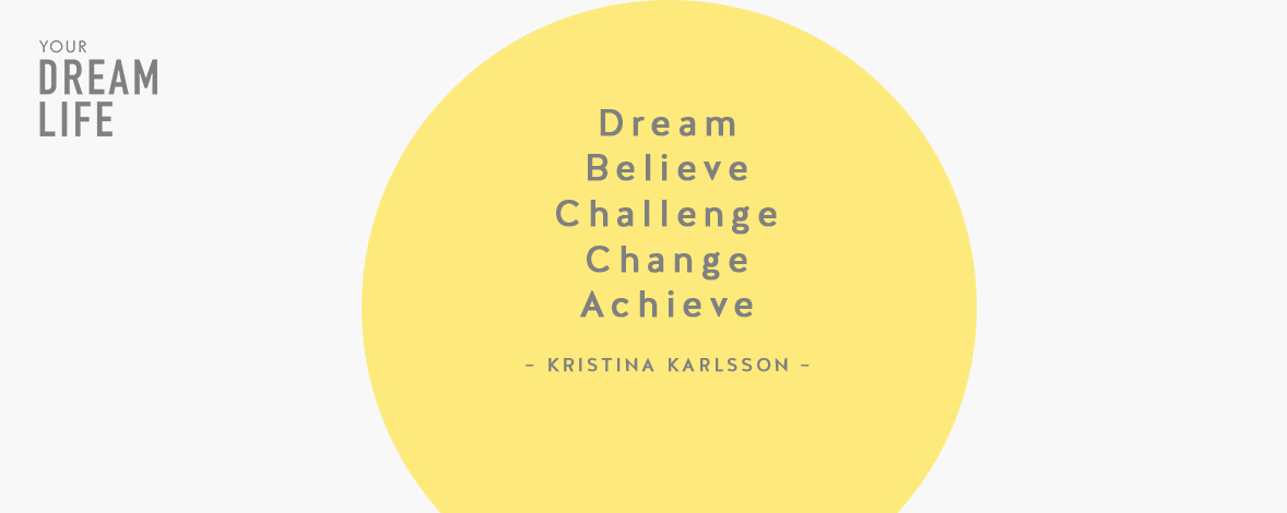 #67: How You Can Dream, Believe, Challenge, Change and Achieve with Kristina Karlsson – Your Dream Life Podcast